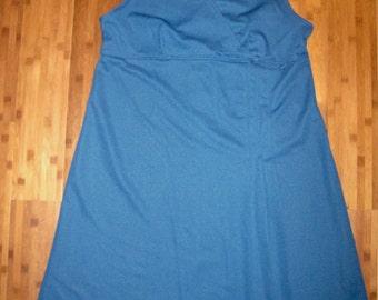 Vintage 1960s Lane Bryant navy dress - large/extra large