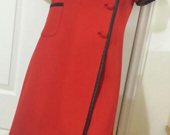 Vintage  Blood Red Cheongsam, Mini dress, Coat dress, Tunic, Blazer, A line,