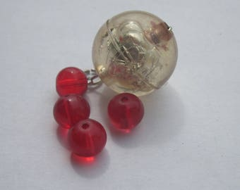 5 round glass beads and acrylic 8-20 mm (PV23-13)