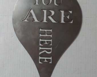 You Are Here - Metal Sign  Y8