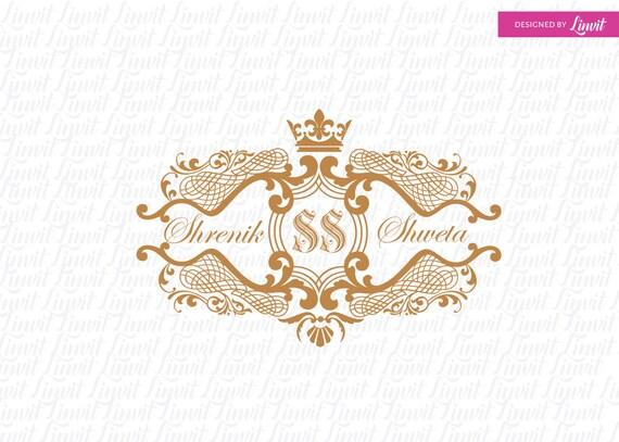 Royal Wedding Logo Wedding Logo Wedding Monogram Wedding Crest Custom Wedding Logo Custom Wedding Monogram Logo Matrimonio