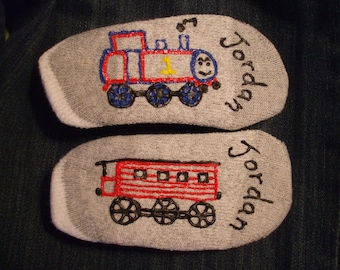Personalized Painted Socks Baby Size No Slip