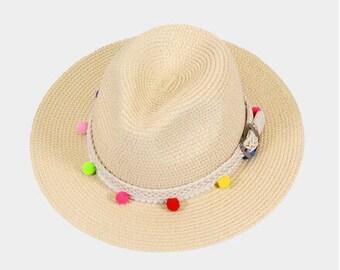 POM POM BELT Fedora A Hat