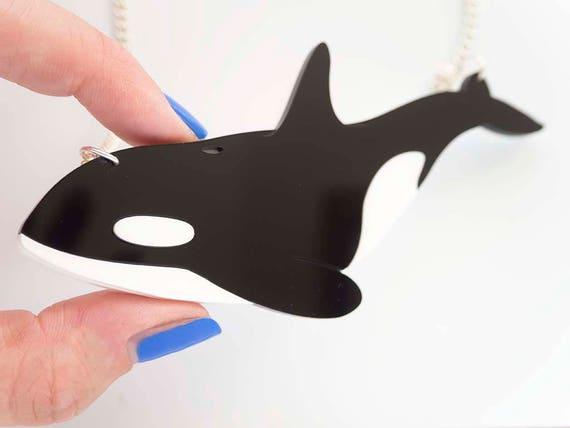 Orca necklace killer whale statement necklace whale pendant killer whale statement necklace whale pendant aloadofball Choice Image