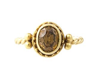 Luna Felix 18K Gold Topaz Candy Ring