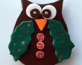 Owl Magnet Handmade Polymer Clay Kitchen Fridge Decoration Home Decor Office Decor(1)