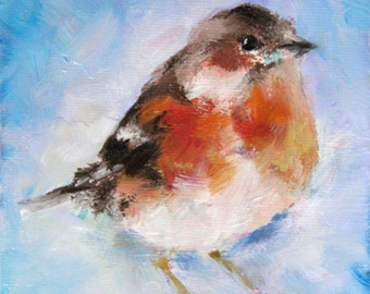 Bird, Oil, Oil painting, Boba, Gift, Art, Bird art