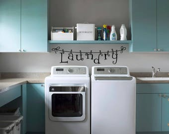 Laundry room decor | Laundry Decals | Laundry room decal | Laundry room sticker | Laundry room wall sticker | Wall decor | Wall art