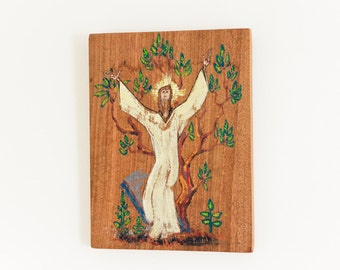 hand painted religious art : jesus - new england monk ooak