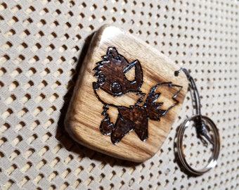 Cute Fox Myrtlewood Keychain