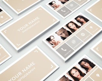 Business Card Template 014 for Photoshop - Print Ready - 3.5 × 2 in