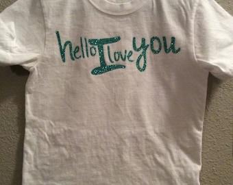 Hello I Love You ~ Children's shirt