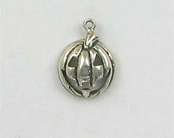 Sterling Silver Jack-o-Lantern Charm