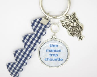 PERSONALIZED gift for a nifty MOM KEYCHAIN: mother's day, Christmas, birthday...