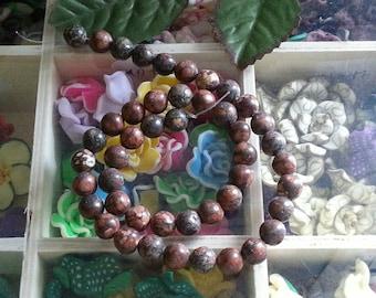 yarn 46 8mm diameter, hole 1 Leopard skin Jasper beads mm