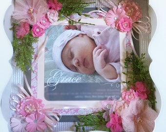 Birth Announcement, Baby Announcement, Baby Gift, Baby Gift Ideas, Unique Baby Gift, Baby Keepsake, Baby Memento, Framed Baby Announcement
