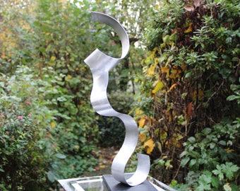 "Modern large abstract aluminium metal sculpture art unique ""ROOP"" 52 cm contemporary metal art sculpture Abstract"