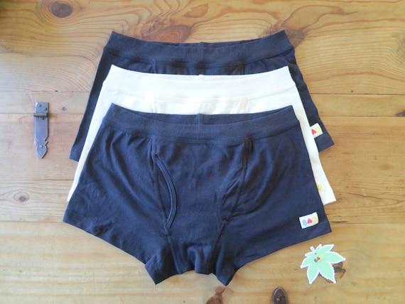3x Black Organic Cotton & Hemp Boxer Briefs Men's Underwear DU0oMHIzD