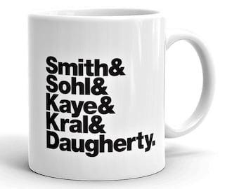 Band Line-Up Mug: Patti Smith Group (Ships within Australia)