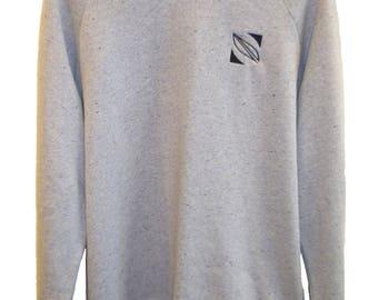SOLVO | Stitched Sweatshirt, Sweater, Jumper | Grey | Black