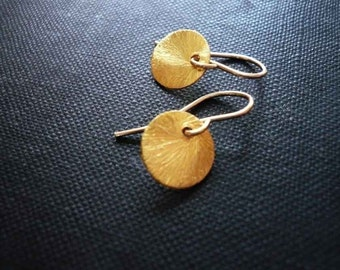 Small Sun Drop Earrings in Gold Filled and Vermeil