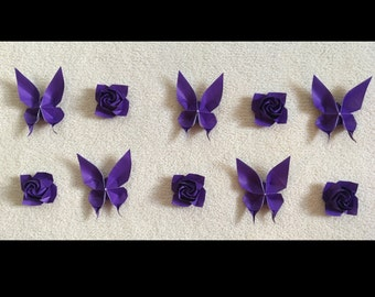 Origami Roses and Butterflies
