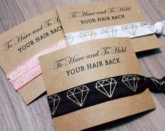 Hair Tie Bridal Shower Favor | To Have and To Hold Your Hair Back Favors | Bridesmaid Gift | Bridesmaid Proposal