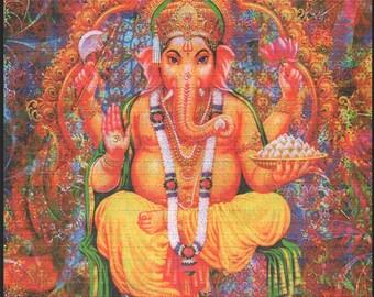 Psychedelic Ganesh Blotter Art By Monkey