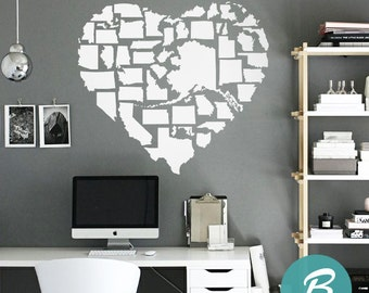 United States Map Wall Decal Inches X Inches - Us map wall decal