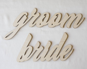 Chair Sign Bride and Groom, Wedding, Bride Groom, Chair Sign
