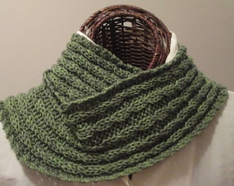 Baby Cabled Hand-Knit Cowl