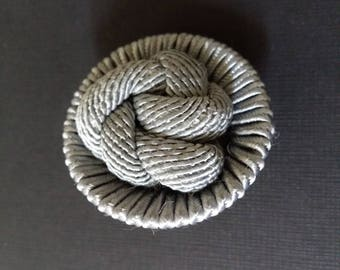 grey silk button