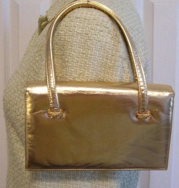 Vintage Gold Lame Bag by La France