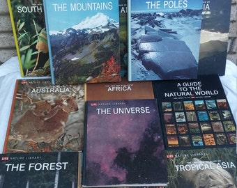 12 volumes of The Nature Library produced by time life books