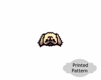 Pekingese Dog - Brick Stitch Beading, Printed (Hard Copy) Pattern