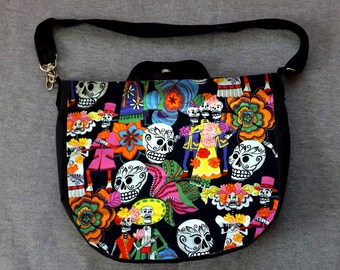 Day of the Dead Los Novios Cross Body Purse Messenger Bag