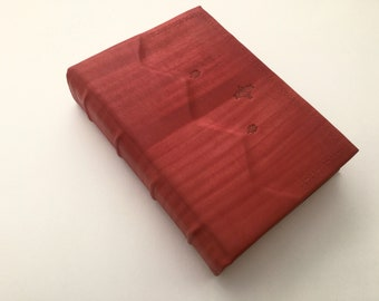 Decorated Red Leather Journal - READY TO SHIP