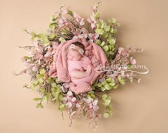 Instant Download newborn wreaths! Newborn prop wreath digital backdrop! 3 files included!
