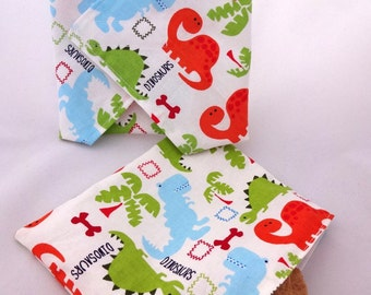 Dinosaur Reusable Lunch Duo - Snack Bag and Sandwich Wrap