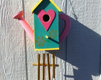 Watering can Birdhouse/Chime