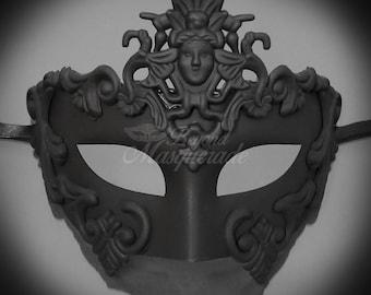 Black Masquerade Mask, Mens Masquerade Mask, Masquerade Ball Mask, Unisex Mask, Black Mask