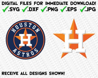 HOUSTON ASTROS svg logo 5 file formats (svg, dxf, png, eps, jpg) download instantly! image vector clipart files for cricut silhouette
