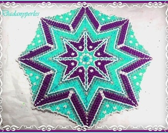 tutorial pattern bead weaving doily and little star ASTRAL