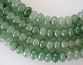 12mm Aventurine Large Hole Rondelle Beads Green Qty 12 or 24 2.5 mm hole
