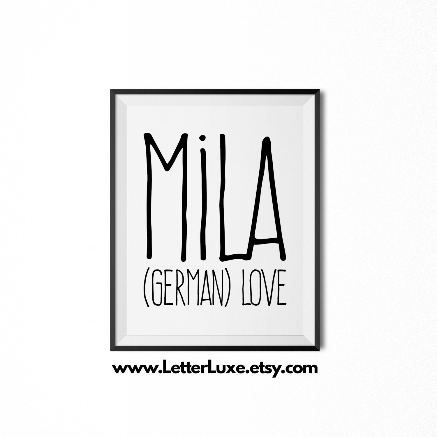 Mila name meaning art printable baby shower gift nursery zoom negle Image collections