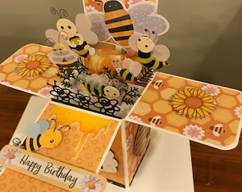 Bee Birthday Card in a Box