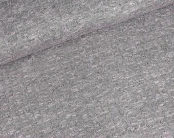 Light knitting fabric Lena Pink-Heather Grey (10.50 EUR/meter)