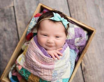 U CHOOSE Nylon bow, headband set 1 size fits all, comfy baby newborn girls hair