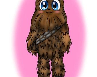 T-Shirt Chewbacca Star Wars Chewy Chewy Solo Han Solo Leia Luke Free Shipping Free Stickers