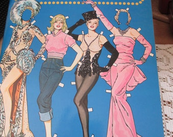 1979 Vintage Marilyn Monroe Paper Doll book by Tom TIerney - From a paper doll collectors collection! - Estate find!
